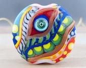 Magic Eye - Glass Art - 1 focal bead by Michou P. Anderson
