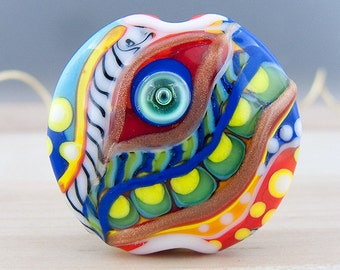 Magic Eye - Glass Art - 1 focal bead by Michou P. Anderson