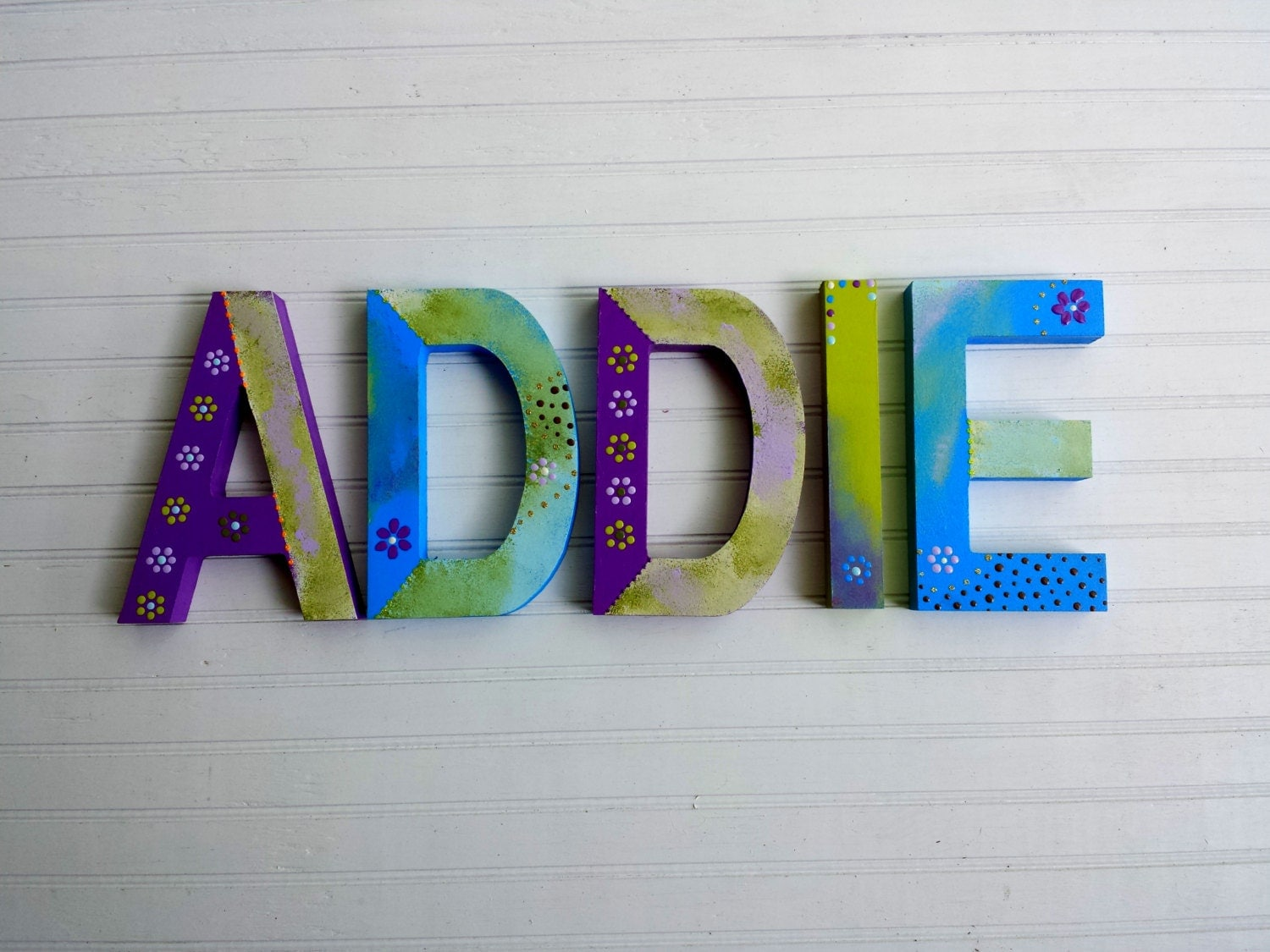 Name letters rustic block font kids name by for Kids name letters