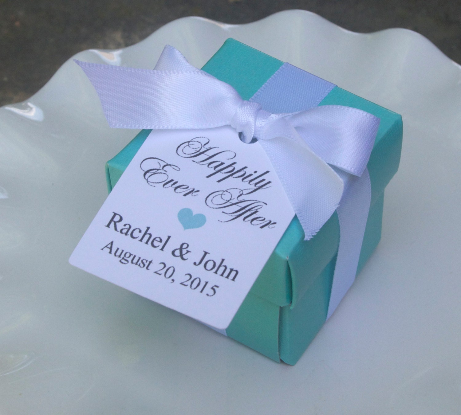12 Personalized Wedding Favor Boxes Bridal Shower Boxes