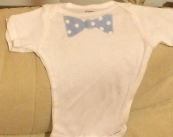 Polka dot bowtie onesie for a baby boy - cute present for your next baby shower!