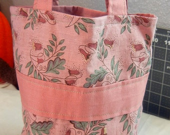 Dusty Rose Floral Small Fabric Purse