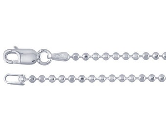 Sterling Silver Ball Chain Necklace - 16, 18 or 20 Inch