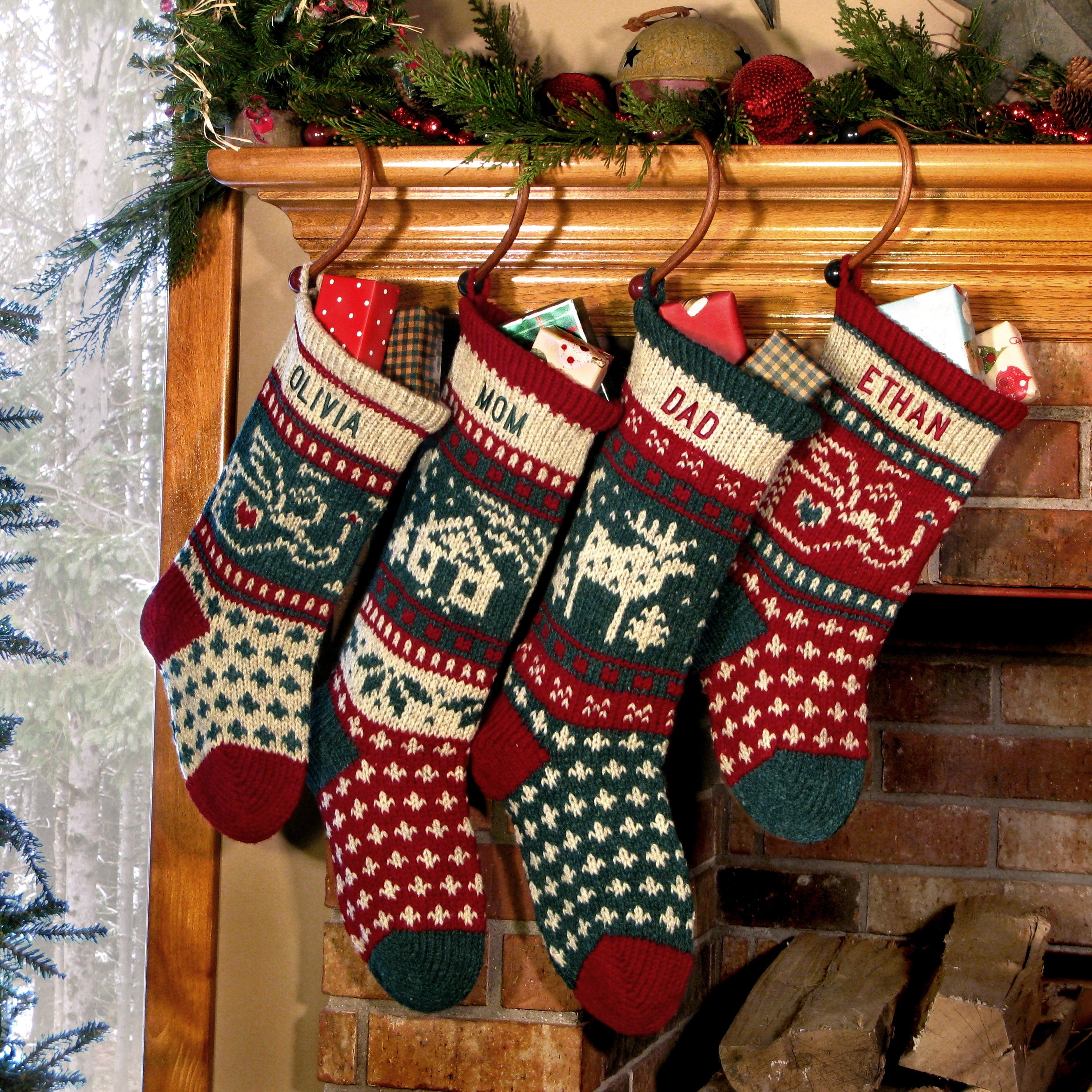 Annie 39 S Personalized Christmas Stockings Knitted By