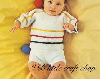 Baby's top and pants crochet pattern. Easy pattern! Instant PDF download!