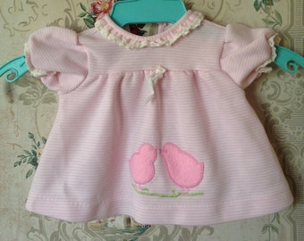 Vintage newborn baby girl Carters top with fuzzy chicks