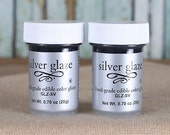 Silver Luster Dust Glaze, Silver Edible Fondant Glaze, Edible Silver Glaze, Silver Fondant Glaze, Metallic Edible Colors, Silver Food Color