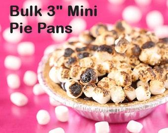 "BULK Tiny Pie Tins, 3"" Mini Pie Pans, Mini Tart Pans, Mini Foil Tart Pans, Mini Foil Baking Pans, Wedding Tart Pans, Mini Pie (100) SALE"