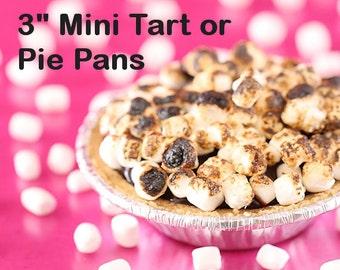 "Tiny Pie Tins, 3"" Mini Pie Pans, Mini Holiday Pie Pans, Mini Foil Christmas Tart Pans, Mini Foil Baking Pans, Disposable Mini Pie Pans (24)"