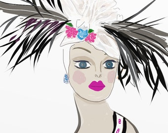 FASHION Greeting Cards - DELPHINE
