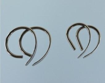 14 gauge niobium earrings: Apostrophe set of 2 pairs