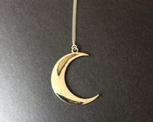 SILVER Crescent Moon Boho Necklace, Long Boho Necklace, Layering Necklace, Moon Necklace, Bohemian Jewelry, Women Long Necklaces