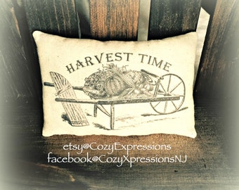 Fall, Autumn Harvest Time Pillow Tuck