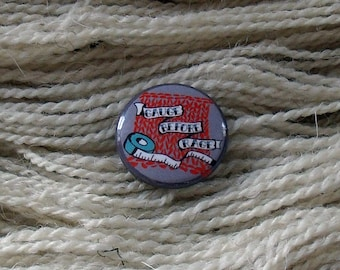 "Gauge Before Rage 1"" Button for Knitting Knitters Who Knit"