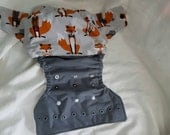 Foxy inspired OS pocket diaper