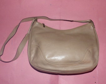 Prada mod style large brown canvas and red by VintageJunktion