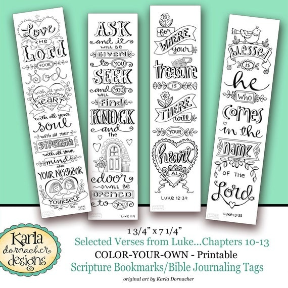 Epic image in free printable bible bookmarks to color