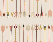 Crib Sheet-Arrow Fabric, Modern Fabric-Fletching Chant, Wild and Free, Art Gallery Fabric-Diaper Changing Pad Cover