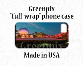 Disney EPCOT iPhone case, Spaceship Earth Galaxy phone case, iPhone 4 4s 5 5s 5C SE, Samsung Galaxy S5 S6 S7, Greenpix original photography