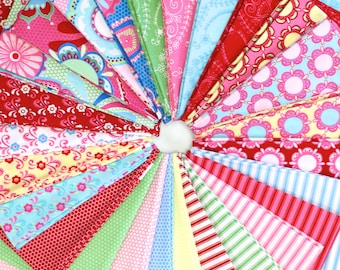 Flower Child Fat Quarter Bundle by Rosalie Quinlan for Ella Blue Fabric  - Full Collection 26 FQs