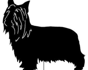 Australian Silky Terrier Garden Stake or Wall Hanging / Pet / Memorial / Yard / Art / Metal / American / Rust / Metal / Outdoor / Dog