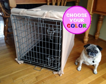 "NO FRILLS (24"") CUSTOM Fleece Dog Crate Cover."
