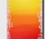 Original Large Abstract painting - 24 X 36  FREE US Shipping JMJartstudio-Sun Drenched-Wall art-wall decor - Orange painting-XXl painting
