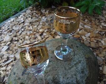 Vintage Aperitif Pedestal Glasses