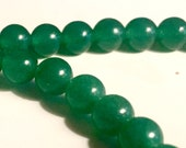 6mm green Aventurine faceted round beads 1-2 strand about 30 beads