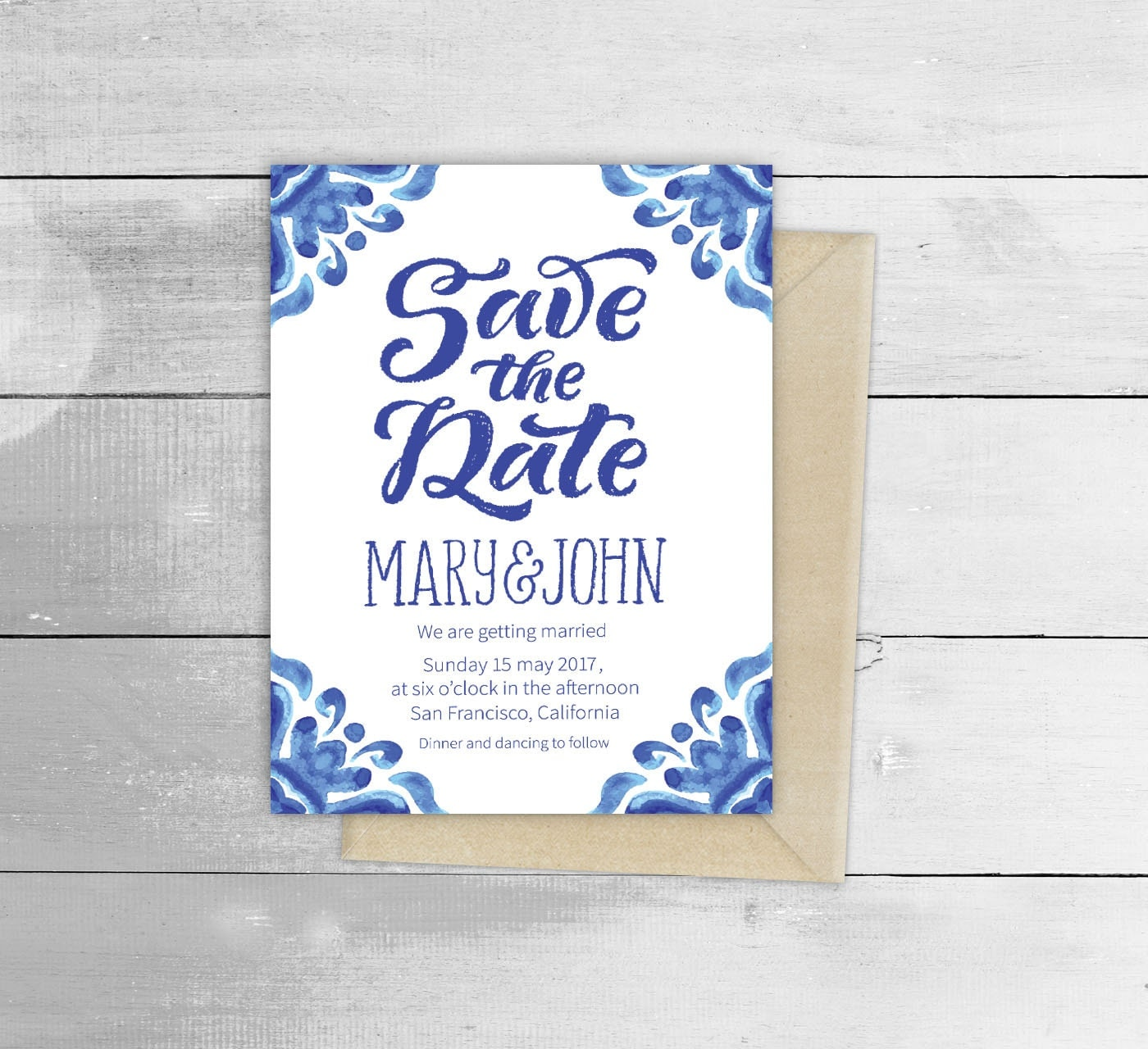 talavera spanish tile mexican fiesta wedding invitations in spanish Talavera Spanish Tile Mexican Fiesta Wedding Invitation zoom