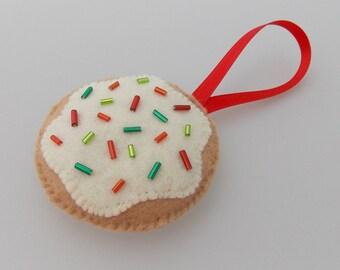 Xmas Iced Sugar Cookie Christmas Ornament