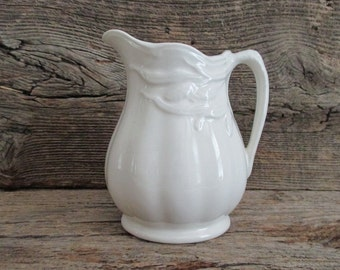 Ironstone Creamer Jug Pitcher Wheat