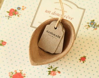 small HANDMADE Kraft swing tag jewelry shop labels