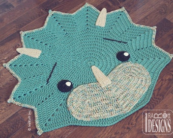 Crochet Pattern Joyce And Justin Whale Rug Nursery Mat Carpet