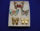 Assorted Butterfly Group of FIVE....Clearance ...6.00