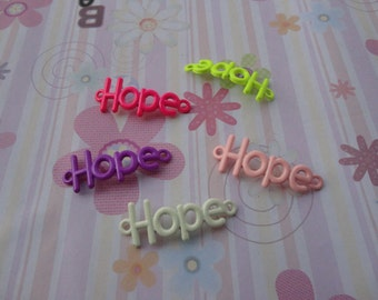 10pcs mix color hope findings 40mmx15mm