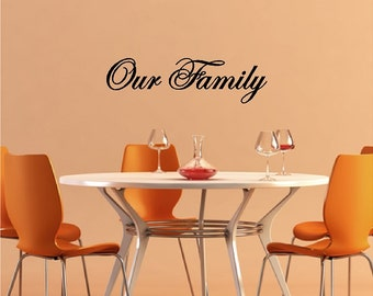 Our Family Wall Quotes Sayings Lettering Family Words Removable