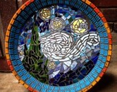 Starry Night Mosaic Terra Cotta Bowl