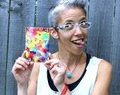 Rainbow Art Greeting Card Colorful Original Acrylic