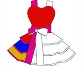 Design Your Own Apron 4 Coloring Pages Digital Instant Download Dots Diner Aprons