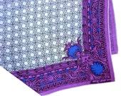 Collectible 1950s Brooke Cadwallader Signed Designer Silk Scarf - American Designer Screen Printed Scarf - Hand Rolled Designer Scarf