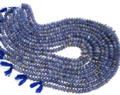 Bead, Tanzanite Smooth Rondelle (Quality C+) / 5.5 to 8 mm / 20 to 22 Grms / 36 cm / TANZ-014