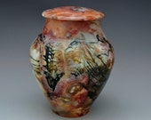 Pit Fired Urn for Cremation or Decoration
