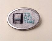 Floppy Disk Save Button Hit Save Brooch Pin