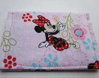 Disney Minnie Mouse, Minimalist Wallet, Business Card Holder, Travel Wallet, Small Wallet, Card Case, Disney Cruise, Credit Card Wallet