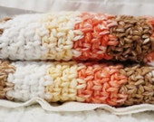 Desert Stripes Cotton Wash Cloth Crocheted Set of Two