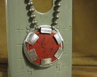 """Neo nightclub foyer floor tile urban artifact necklace - contains actual piece of Neo's entryway floor on 18"""" ball chain"""
