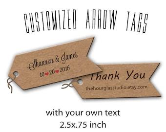 Arrow Tags, Custom Tags, Gift Tags, Thank You tags