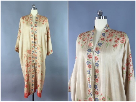 Robe en soie vintage des ann es 20 20 s robe kimono 1920 - Robe vintage annee 20 ...