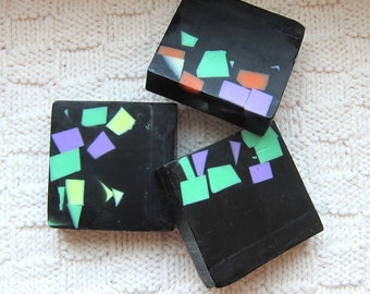 Spiced Chestnut in Dramatic colors, Shea, Mango, Cocoa Butters, Glycerin & Active CharcoalSoap